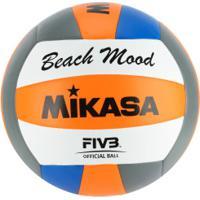 Bola De Vôlei De Praia Mikasa Vxs Bmd - Laranja/Azul