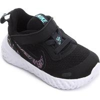 Tênis Infantil Nike Revolution 5 Rebel Tdv - Feminino-Preto+Azul