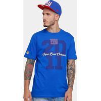 Camiseta New Era Nfl New York Giants Piquet Masculina - Masculino