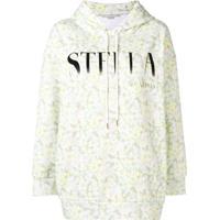 Stella Mccartney Blusa De Moletom Com Estampa Floral E Logo - Amarelo