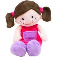 Boneca Sorridente Roupa Pink 29 Cm