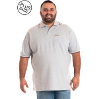 Camisa Polo Konciny Plus Size Cinza