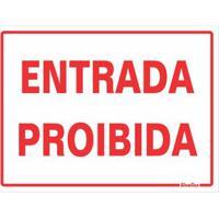 Placa De Poliestireno 15X20Cm Entrada Proibida 220At Sinalize