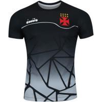 bc024a3973 Camisa Do Vasco Da Gama Concentração 2018 Diadora - Masculina - Preto