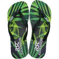 Chinelo Tropical Ascension Masculino - Verde E Preto - Masculino-Verde+Preto
