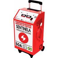 Carregador De Bateria Sentinela Profissional, Cv50/ 24V, Com Auxiliar
