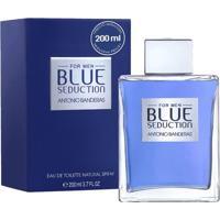 Perfume Masculino Blue Seduction Antonio Banderas Eau De Toilette 200Ml - Masculino-Incolor