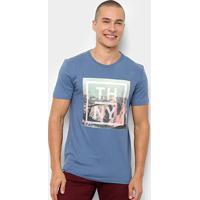 Camiseta Tommy Hilfiger Photo Print Masculina - Masculino-Azul