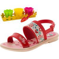 Sandália Infantil Feminina Moranguinho Vermelho Grendene Kids - 21757