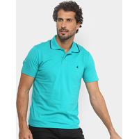 Camisa Polo Burn Color Masculina - Masculino-Verde
