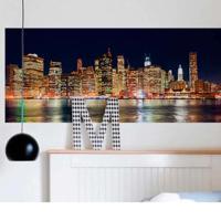 Painel Fotográfico Adesivo Ny City Multicor 1,43M X 61Cm Grudado Adesivos