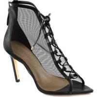 Open Boot Bico Folha Fall Preview Vicenza Feminina - Feminino-Preto