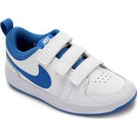 Tênis Infantil Nike Pico Velcro - Masculino-Branco+Azul