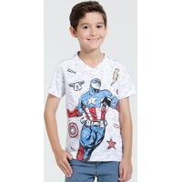 Camiseta Infantil Manga Curta Os Vingadores Marvel