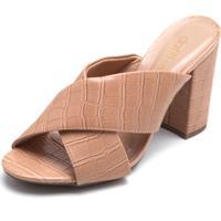 Tamanco Dafiti Shoes Croco Nude
