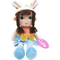 Boneca De Pano Presente Para Bebê Criança De 1+ Ano - Malu