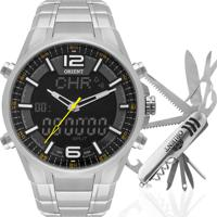 Kit Relógio Orient Masculino Com Canivete Mbssa048Kw95P2Sx