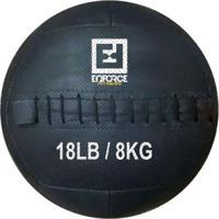Wall Ball Medicine Ball Bola De Couro 8Kg P/ Crossfit, Treinamento Funcional - Enforce Fitness - Unissex