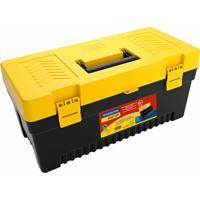 Caixa Plástica Para Ferramenta Injetada Utility Ii Preta E Amarela 20 L