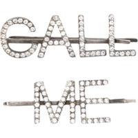 Saint Laurent Presilha De Cabelo 'Call Me' - Prateado