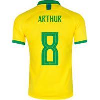c8dd7cea0086f ... Camisa Da Seleção Brasileira I 2019 Nike Nº 8 Arthur - Masculina -  Amarelo/Verde