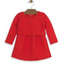 Vestido Infantil Matelassê Vermelho