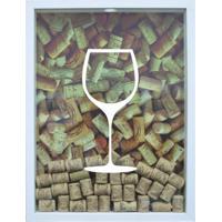 Quadro Porta Rolhas De Vinho Cm Branco