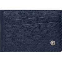 Porta-Cartões Montblanc Westside Masculino Couro Azul - 118661