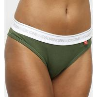 Calcinha Tanga Calvin Klein Ck One Basic - Feminino-Verde