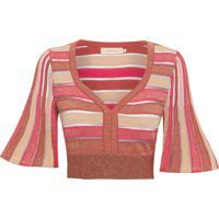 Blusa Feminina Cores Transparência - Vermelho