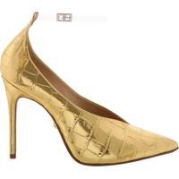 Scarpin Vinil Croco Golden | Schutz