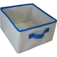 Caixa Organizadora De Tecido Organibox C/ Alça De 28X14X28Cm Azul