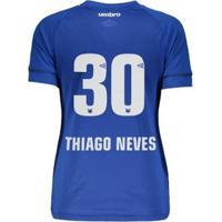 Camisa Umbro Cruzeiro Nº30 Thiago Neves I 2018 Feminina - Feminino