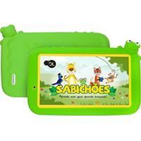 """Tablet Dl Sabichões Tx386Bvd 8Gb Com Wi-Fi. Tela 7"""". Câmera E Android Branco"""