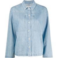 Ymc Camisa Jeans - Azul