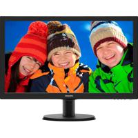 "Monitor 27"" Led Full Hd 273V5Lhab Widescreen Smartcontrol Lite Vga Hdmi Dvi Preto Philips Bivolt"