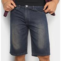 Bermuda Jeans Preston Básica Masculina - Masculino-Azul