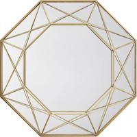 Espelho Decorativo Melissandre 46 X 46 Cm Dourado