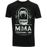 Camiseta Venum Mma Fight Team - Masculina - Preto