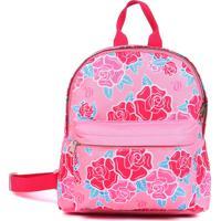 Mochila De Costas Dmw P Liberty Vii Pink Capricho Floral Rosa