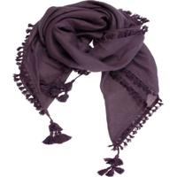 Xale- Pashmina- Visc Excl Pingente- Uva Fort Musgo