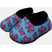 Sapato De Atividades E Natação Neoprene Ecoeplay Polvo Rosa