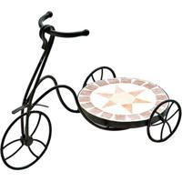 Floreira Bicicleta- Preta & Off White- 31X44X21Cmbtc Decor