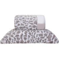Cobertor Queen Slim Peles Dupla Face Com Porta Travesseiro Native - Tessi
