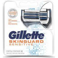 Cargas Gillette Aparelho De Barbear Skinguard Sensitive C/ 4 Unidades