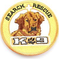 Patch Bordado K9 Search Rescue - Pl60351
