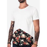 Camiseta Recorte Floral 101490