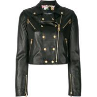 Dolce & Gabbana Jaqueta Biker Com Botões E Zíper - Preto