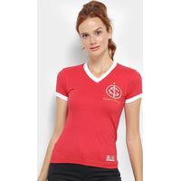 Camiseta Internacional Retrô Mania 1975 Feminina - Feminino-Vermelho