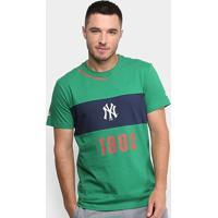 Camiseta Mlb New York Yankees New Era Fresh Ribbon Masculina - Masculino